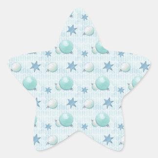 Christmas Baubles Star Sticker