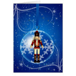 Christmas Baubles with stars and snow Greeting Card