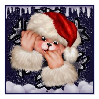 CHRISTMAS BEAR 3 Perfect Poster Glossy Finish
