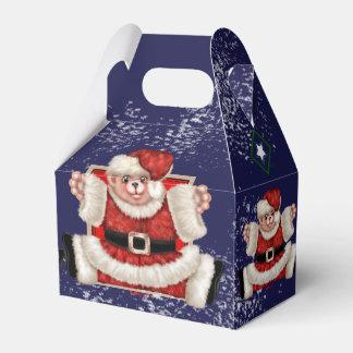 CHRISTMAS BEAR 5 CARTOON Gable Favor Box 3