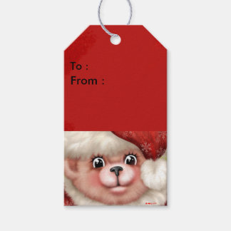 CHRISTMAS BEAR 5 Gift Tag 2