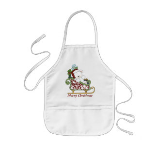 Christmas Bear holiday apron
