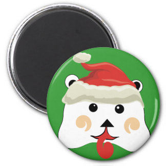 Christmas Bear 2 Inch Round Magnet
