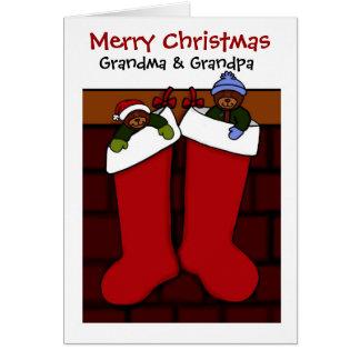 Christmas bears for grandma and grandpa card