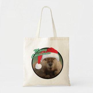 Christmas Beaver - Budget Tote