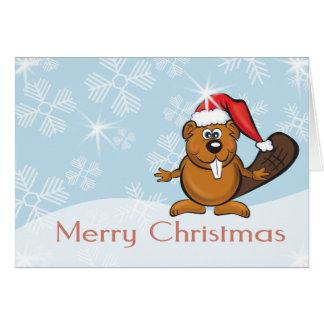 christmas beaver card
