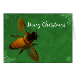 Christmas Bee Card