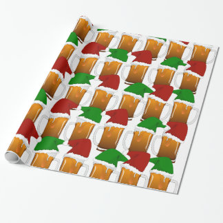 Christmas Beer Cheer Wrapping Paper