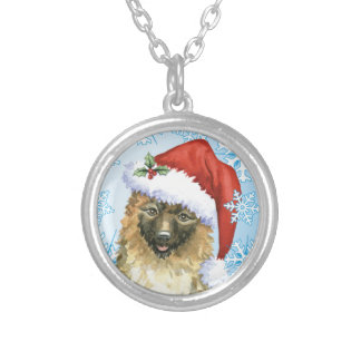 Christmas Belgian Laekenois Silver Plated Necklace
