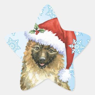 Christmas Belgian Laekenois Star Sticker