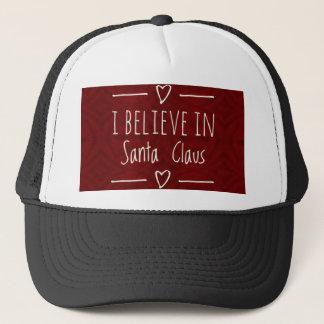 Christmas 'Believe in Santa Claus Quote Trucker Hat