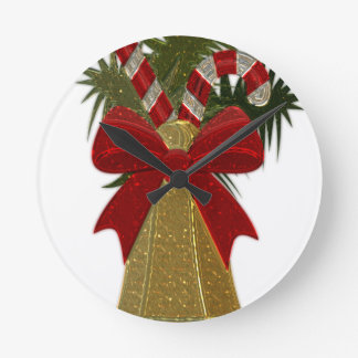 Christmas Bell #2 Round Clock