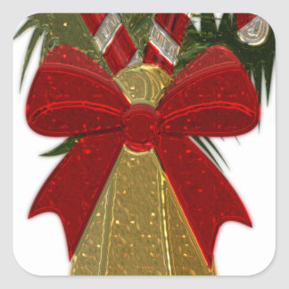Christmas Bell #2 Square Sticker