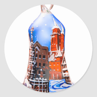 Christmas Bell #5 Classic Round Sticker