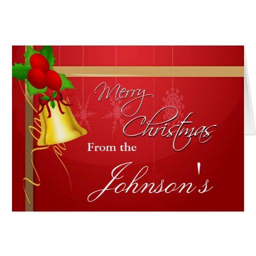 Christmas Bell and Ribbon Card