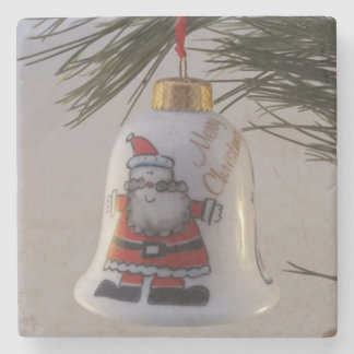 Christmas Bell Bauble Stone Coaster