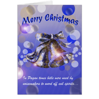 Christmas Bell (Blue) Greeting Cards