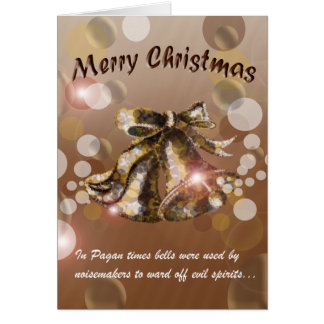 Christmas Bell (Brown) Card