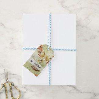 Christmas bell gift tags
