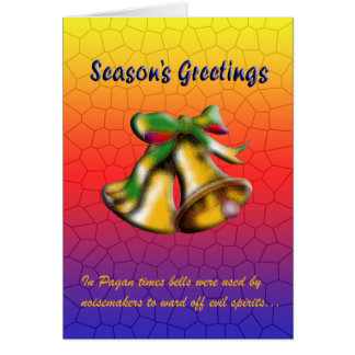 Christmas Bell (Gold) Card