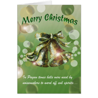 Christmas Bell (Green) Greeting Cards