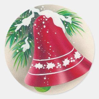 Christmas Bell Retro Sticker
