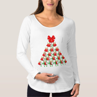 Christmas Bell Tree Maternity Long Sleeve Shirt