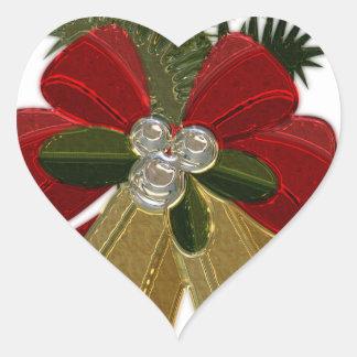Christmas Bells #4 Heart Sticker
