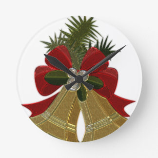 Christmas Bells #4 Round Clock