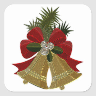 Christmas Bells #4 Square Sticker