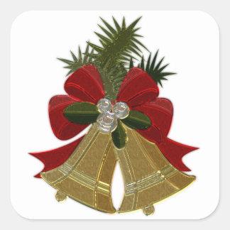 Christmas Bells #4 Square Sticker