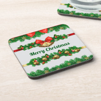 Christmas Bells and Hollies   Coaster