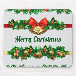 Christmas Bells and Hollies | Mousepad