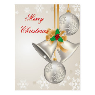 Christmas Bells And Ornaments Postcard