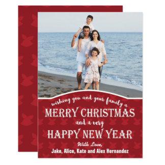 "Christmas Bells Background Christmas Photo Card 5"" X 7"" Invitation Card"