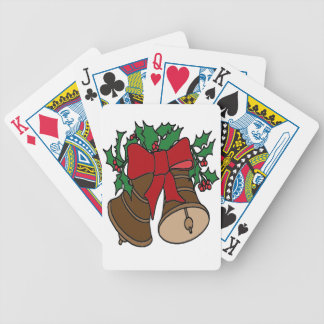 Christmas Bells Bicycle Playing Cards