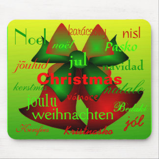 """""""Christmas Bells From Around The World"""" Mouse Pad"""