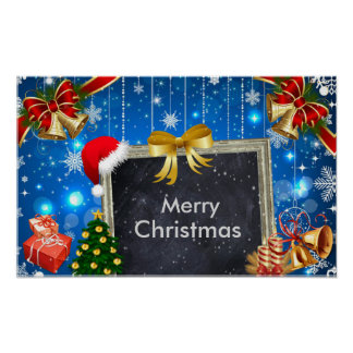 Christmas Bells Gifts and Tree Decoration Poster