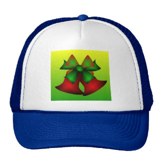 Christmas Bells In Blue Mesh Hats
