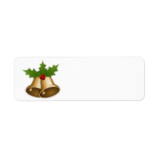 Christmas Bells Return Address Label