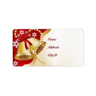 Christmas Bells Label Address