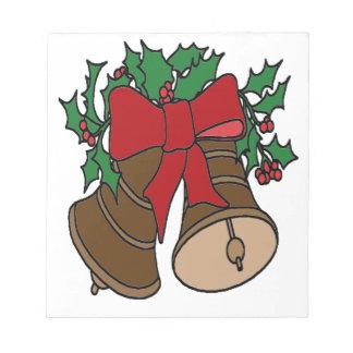 Christmas Bells Notepad