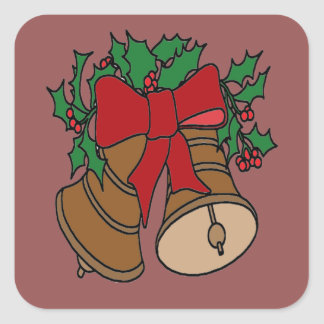 Christmas Bells Square Sticker