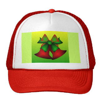 Christmas Bells V In Red Mesh Hats