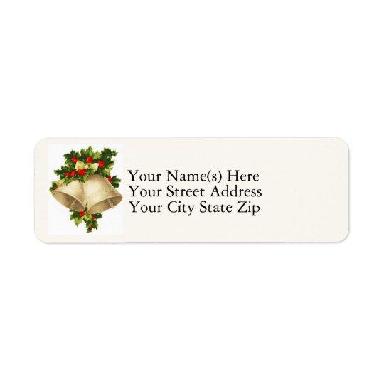 Christmas Bells Vintage Return Address Label