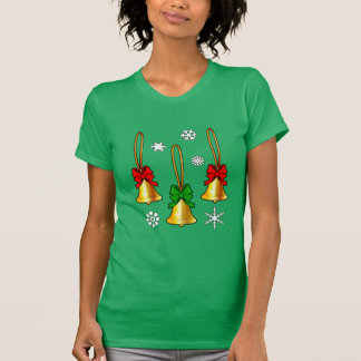 Christmas Bells with Bows Tee Shirts