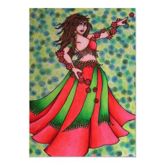Christmas Belly Dancer Card