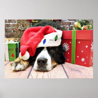Christmas - Bernese Mountain Dog - Mya Print