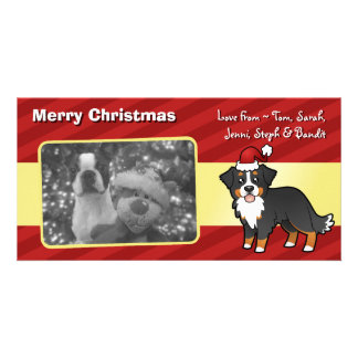 Christmas Bernese Mountain Dog Photo Card Template