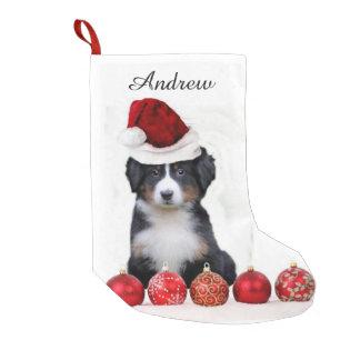 Christmas Bernese Mountain Dog Small Christmas Stocking